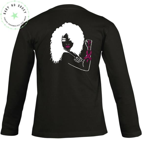tee-shirt boobs no soucy octobre rose noir dos