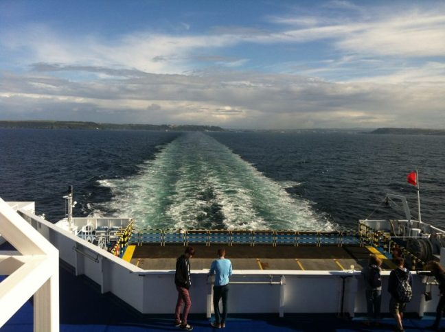Ferry journey from Plymouth to Roscoff on our way to St Jean De Monts