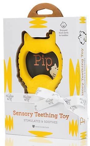 a sensory teething ring to help ease your baby's gums