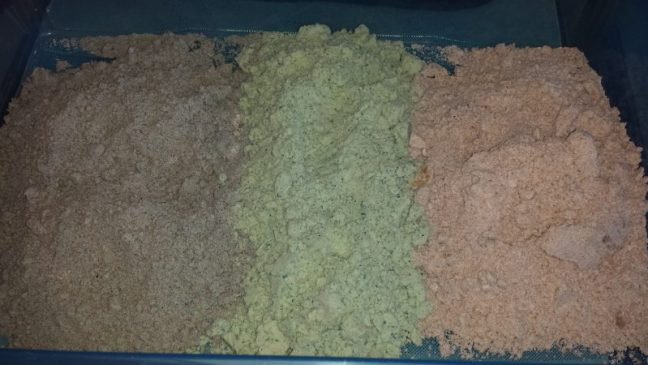 cloud dough in different colours