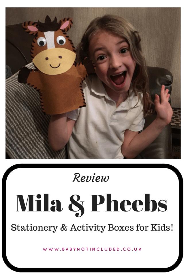 Mila & Pheebs Stationery & Activity Box Review