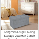 Review: Songmics Large Folding Storage Ottoman Bench Box + Competition