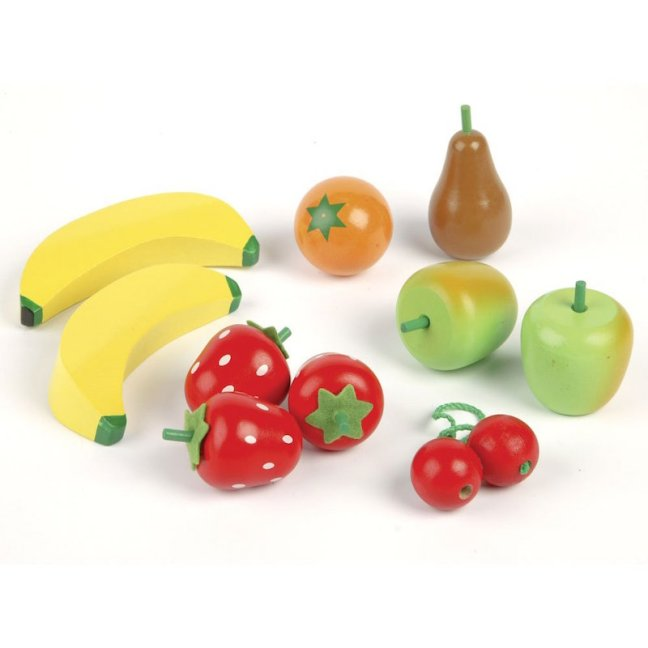 Christmas Gift Guide for 1 - 2 year olds. Tidlo Wooden Fruit Salad Play Food Set
