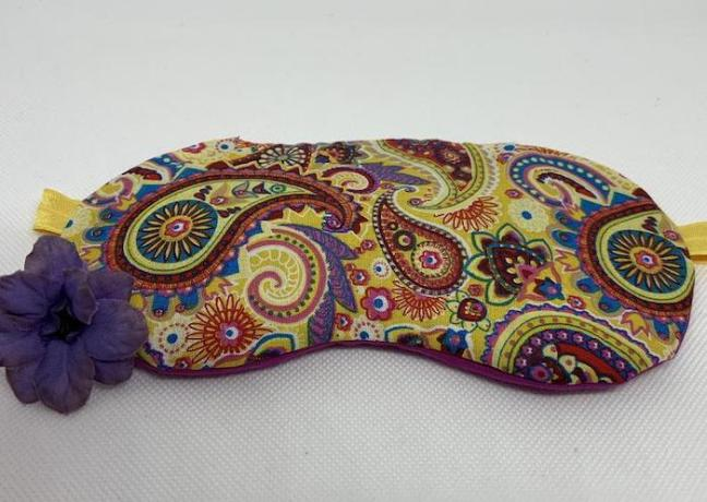 Essential Oil Infused Eye Mask from Bags of Lavendar
