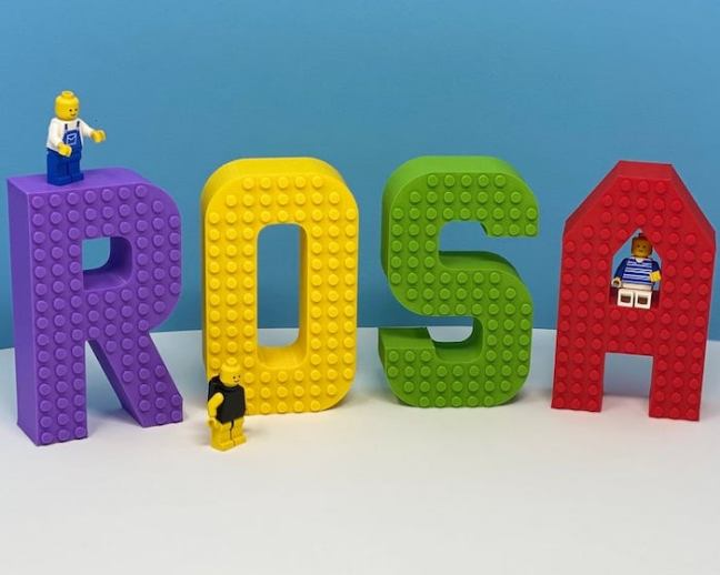 Large Lego Name Sign