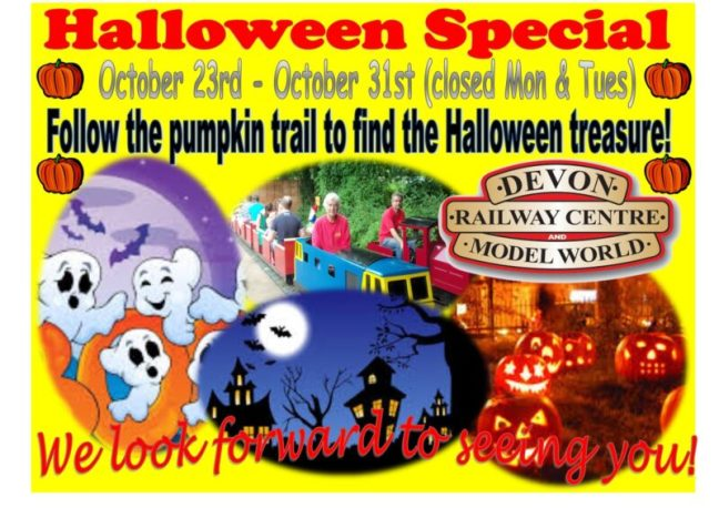 Halloween Pumpkin Trail at the Devon Railway Centre