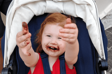 yummy snacks for kids to take on the go, baby on the move