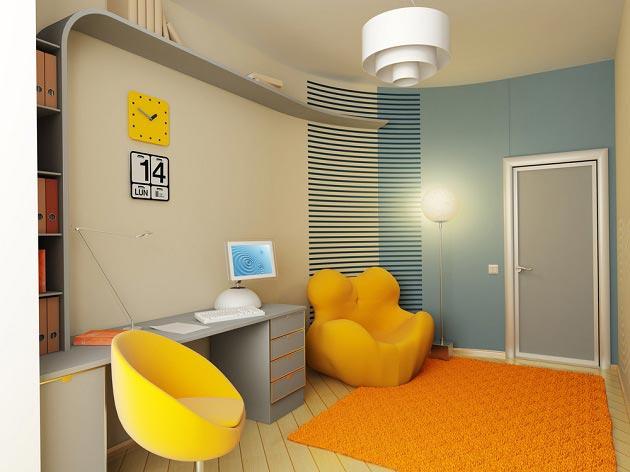 дизайн маленькой комнаты для парня 7