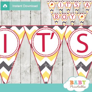 elephant baby shower boy banner