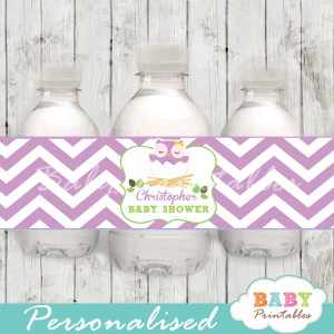Owl personalized printable Water Bottle Labels