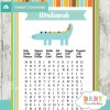 crocodile themed printable baby shower word search puzzles