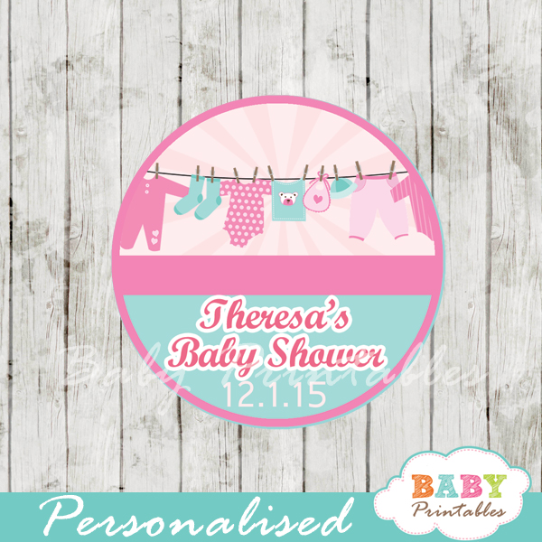 baby girl clothes baby shower tags labels