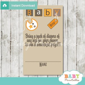 printable baby letter blocks diaper raffle game cards baby shower