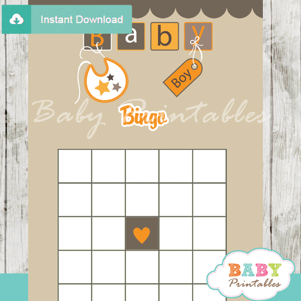 printable baby blocks letters themed baby shower bingo games cards