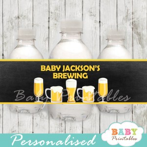 personalized baby is brewing beer babyq baby shower bottle wrappers diy online