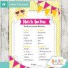 pink yellow sunshine themed printable baby shower games what's in your purse