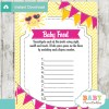 sunshine printable baby shower games blind tasting baby food