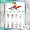 little aviator printable baby shower word search puzzles