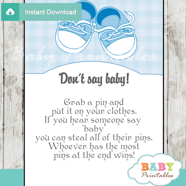 boy baby shoes Dont Say Baby Game pdf