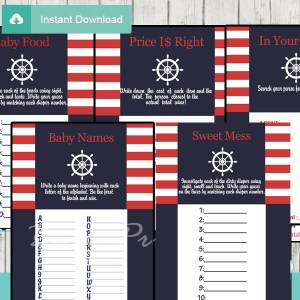 printable nautical helm baby shower fun games ideas