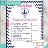 nautical anchor Price is Right Baby Shower Games printable pdf