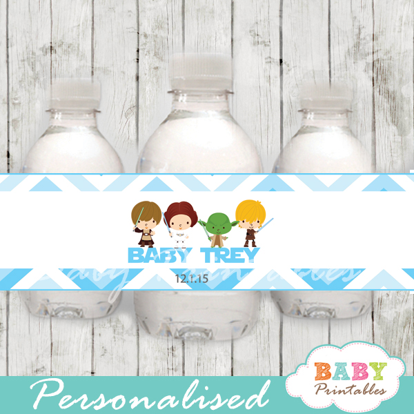 printable star wars personalized bottle wrappers diy