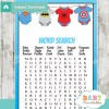 superhero baby shower word search game printable puzzles