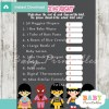 girl superhero Price is Right Baby Shower Games printable pdf