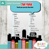 boy comic book what's in your purse baby shower game printable