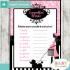 french poodle paris printable baby shower unscramble words game