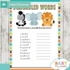 baby shower safari games unscramble the words