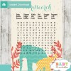 baby shower safari games word search