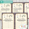 printable native american baby shower games package