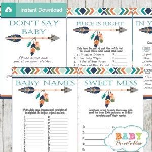 tribal arrow games to play at a baby shower