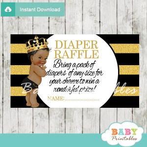 black gold african american prince crown royal diaper raffle tickets