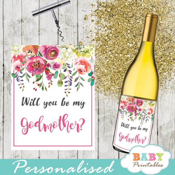 watercolor garden flowers square gift tags custom wine labels