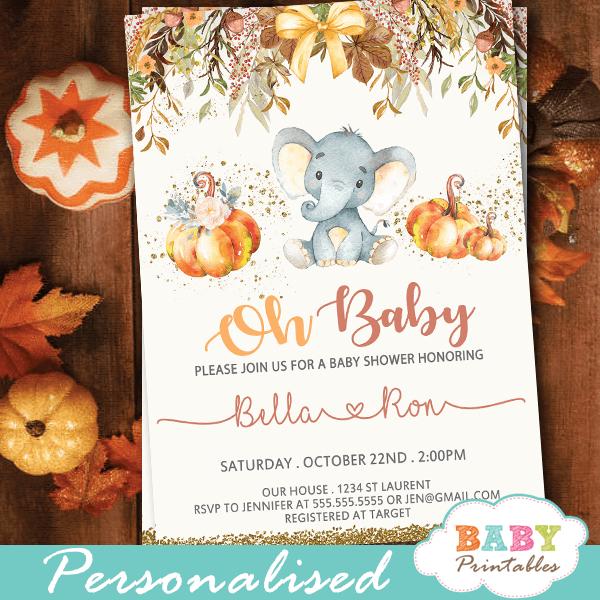 Safari Baby Shower Invitations