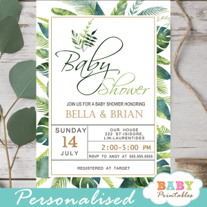 Greenery Baby Shower Theme Printables