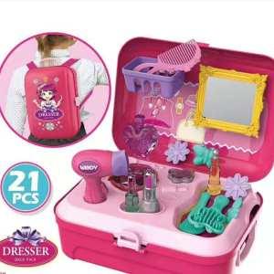Frizerski set 2u1 Ranac i kofer sa igračkama