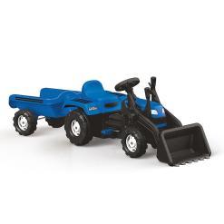 Veliki traktor na pedale sa prikolicom i kasikom