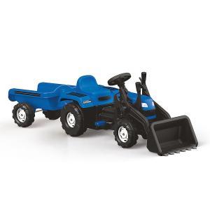 Veliki traktor na pedale sa prikolicom i kašikom