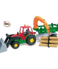 Traktor sa drvima i kašikom
