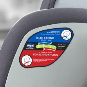 Chicco NextFit Convertible Car Seat, Matrix - side view - indicator rear facing