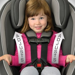 Chicco NextFit Convertible Car Seat, Matrix - front view to adjust straps on child