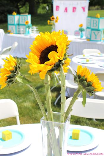 Yellow And Turquoise Baby Shower Baby Shower Ideas