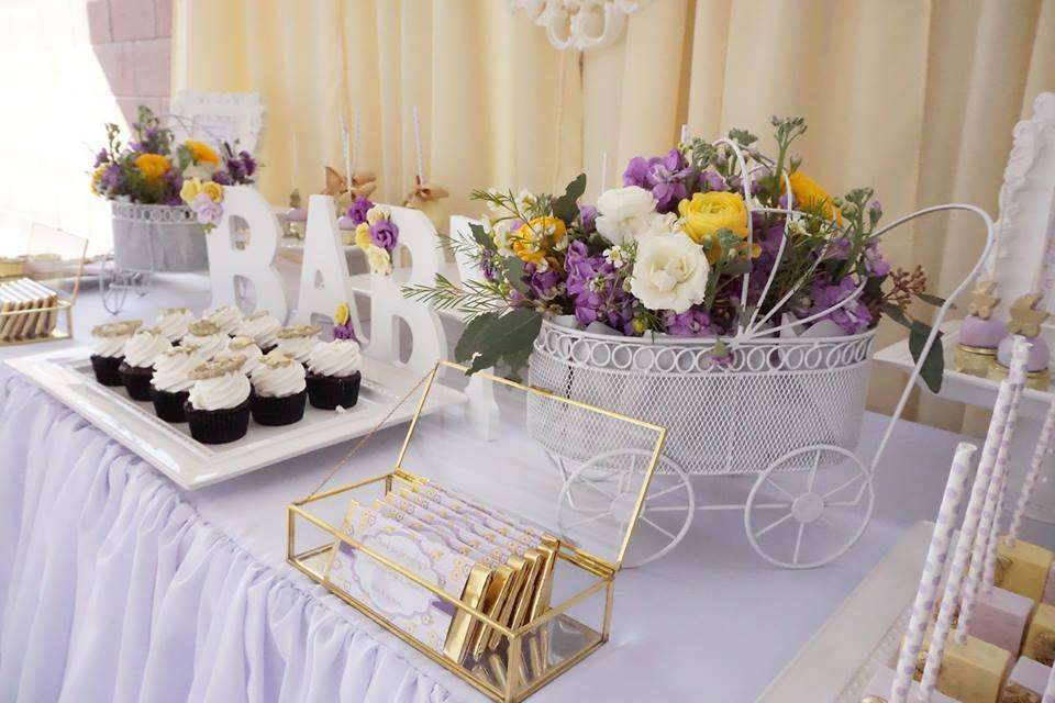 Lavender Yellow Shower And Baby