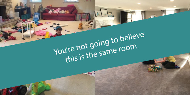 Oh noooo, look what happened to our playroom (sponsored by Ashley HomeStore!!)