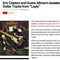 エリック・クラプトン「Layla(いとしのレイラ)」がギターとヴォーカルのみに!