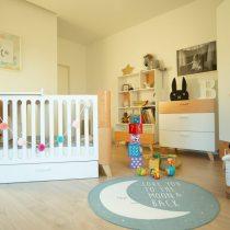 Babykamer Hoppa ( doorgroeibed met lade + commode + kledingkast)