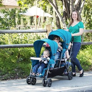 Joovy triple stroller road